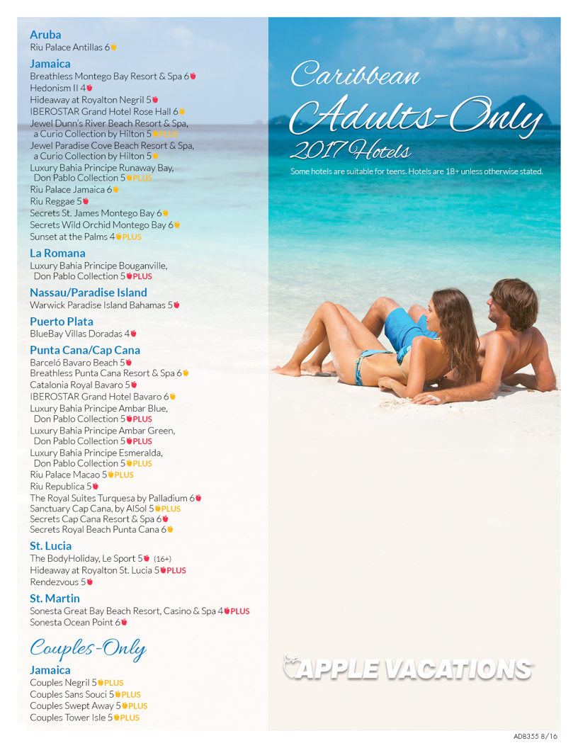 Adults only resorts Caribbean